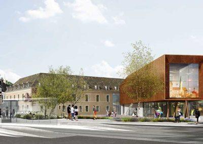 Construction de la Cité internationale de la Gastronomie et du Vin à Dijon