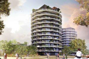 Construction de la Tour Panorama (ZAC Madeleine) à Rennes