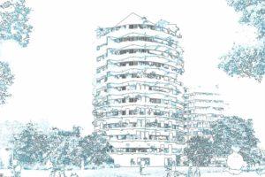 Construction de la Tour Panorama (ZAC Madeleine) à Rennes 2