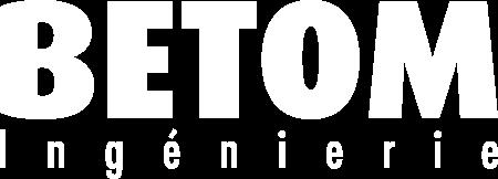 logo Betom ingenierie blanc