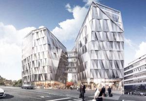 Construction de l'Urban Quartz à Rennes