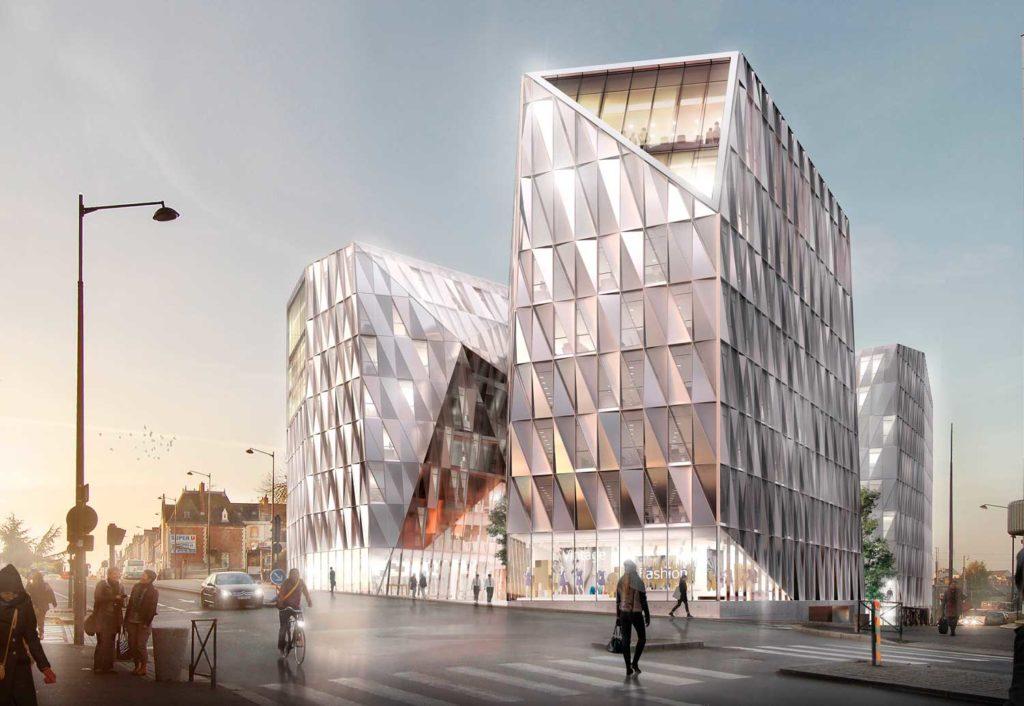 Construction de l'Urban Quartz à Rennes 2