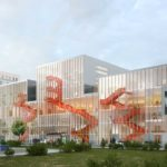 Construction du campus et de la résidence étudiante Ynov à Nanterre