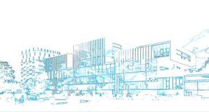 Construction du Campus et résidence étudiante Ynov à Nanterre