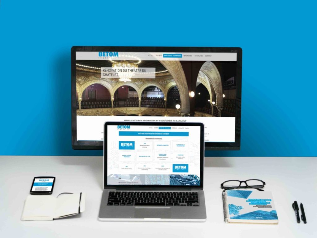 Site web BETOM Ingénierie