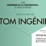 SIATI: BETOM Ingénierie remporte le Prix du meilleur projet «Ingénierie de la construction» avec une mention spéciale
