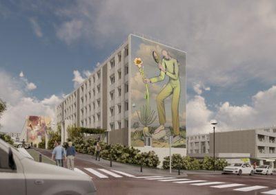 Réhabilitation, rénovation énergétique et street art pour le quartier Bernard de Jussieu à Versailles (78)