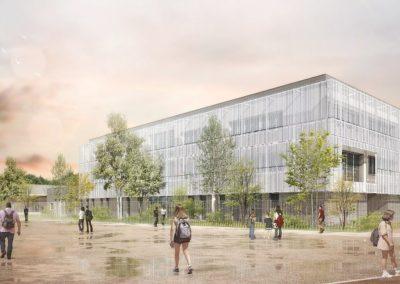 Construction du collège 600 à Verdun sur Garonne