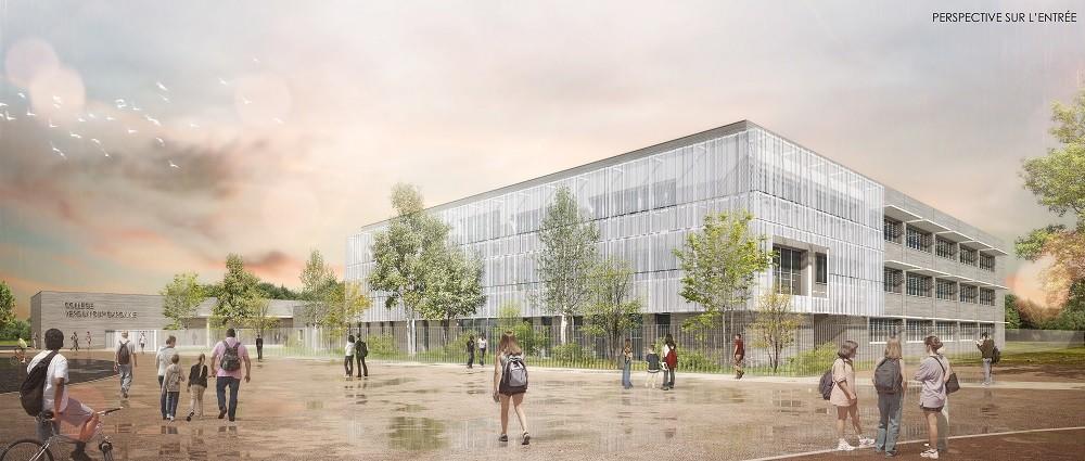 BETOM Ingenierie construit le collège 600 de Verdun sur Garonne @Agence HIRSCH & ZAVAGNO