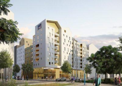 Construction d'un ensemble immobilier – Résidence L'Avenue, ZAC Marianne République à Montpellier